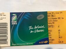 Rugby World Cup Ticket 2003 -France vs Scotland 25th Oct 2003 with Free P& H