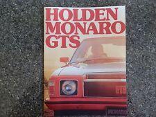 HOLDEN 1976 HX GTS MONARO SALES  BROCHURE  100% GUARANTEE.