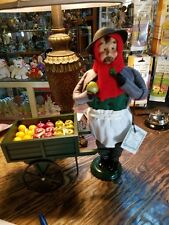 Byers Choice Caroler CRIES OF LONDON FRUIT VENDOR WITH CART  *Brand New*