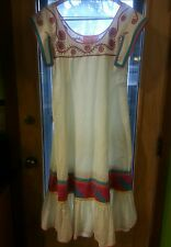 DiseÑO Josefa Vintage cotton Mexican sun dress Medium size 8 10