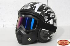 masque irridium casque jet moto Bell Caberg DMD Premier Hedon Biltwell Harley
