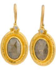 Pendientes de joyería con diamantes naturales de oro amarillo no aplicable