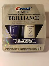NEW Crest 3D White Brilliance Toothpaste and Whitening Gel System 4.0oz & 2.3oz