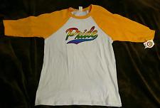 Gay lesbian Trans  Pride Rainbow Jersey Tshirt Fabulous 16  T-Shirt XL  NWT LGBT