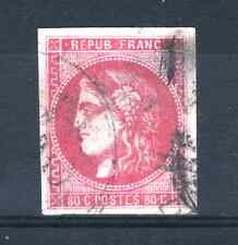"""FRANCE STAMP TIMBRE 49 b """" CERES BORDEAUX 80c ROSE VIF """" OBLITERE A VOIR  P944"""