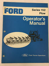 Ford Tractor Series 152 Plow Operator's Manual