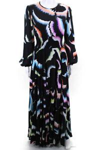 A.L.C. Womens Long Sleeve Leah Maxi Black Print Size 0 13494624