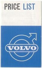 Volvo Price List October 1963 121 122 Estate Car 1800S Sports Coupe