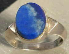 Vintage BOMA Sterling Silver RING Blue Lapis Lazuli Oval Size 7  Weigh 4.0g  #36