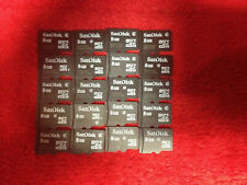 SanDisk 8GB Micro SD HC Memory Card (lot of 20 cards)