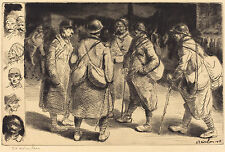 Theo Steinlen Reproduction: Soldiers on Leave - Night Scene - Fine Art Print