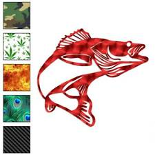 Walleye Bass Fishing Decal Sticker Choose Pattern + Size #729