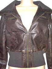 Women's Formal Faux Leather Biker Coats & Jackets