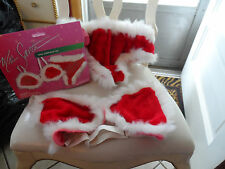 Ladies Mrs. Santa red faux fur sexy underware set