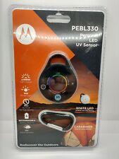 Motorola PEBL330 Personal LED Rechargable Light and UV Sensor Black