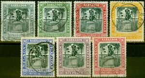Barbados 1906 Nelson Set of 7 SG145-151 Fine Used
