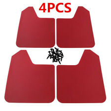 Red 4Pcs Universal Car Truck Plastic Mudflaps Splash Guards Fender Accessories