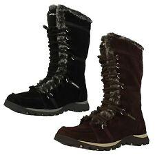 Skechers Snow, Winter Zip 100% Leather Boots for Women