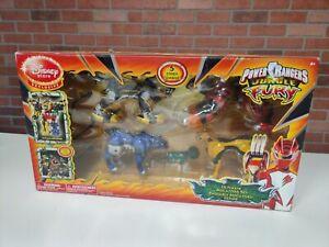 Power Rangers Jungle Fury Ultimate Megazord set sealed Disney store SEALED RARE!