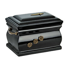 Composite cercueil Urne cendres Incinération pour adulte avec roses enterrement
