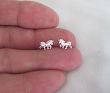 Sterling Silver 7mm Unicorn post stud earrings.