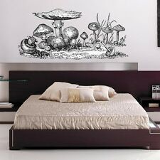 "Giant Mushroom Etched Style Vinyl Wall Decal - 60"" wide x 28"" tall"