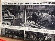 T1-7 ephemera 1941 ww2 folded article franchot tone trail of the vigilantes 2 pa