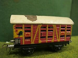 MARKLIN HO SCALE POULTRY CAR * TIN PLATE * FROM 50'S * #386 * RARE - COLLECTIBLE