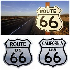 2 PCS Aluminium 3D Badge Emblem Route 66 Road limited Edition California