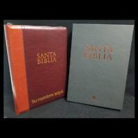 """BIBLIA LETRA SUPER GIGANTE CON INDICE Y CIERRE MARRON Y CAFE """"PERSONALIZADA"""""""