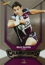 2011 NRL SELECT CHAMPIONS STORM BILLY SLATER SILVER PARALLEL SP87 FREE POST