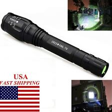 USA 8000LM 5Modes XML-T6 LED Tactical Zoomable Flashlight Lamp Torch Light E