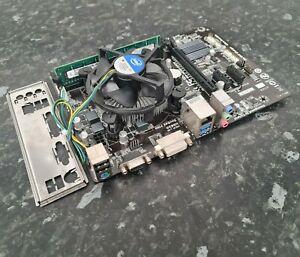 i3-4150 @ 3.50GHz 8GB DDR3 Gigabyte GA-H81M-DS2V CPU Ram Combo Tested EB2806