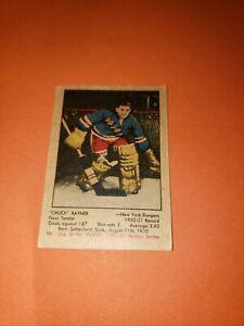 1951-52 parkhurst hockey cards #104 Chuck Rayner rookie. Excellent ++ 🔥