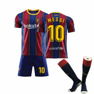 Herren Fußball Trikot Kit Kinder Jersey Kurzarm Erwachsene Messi 10# Jungen~~~~~