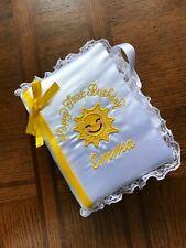 Personalized Sunshine Happy First Birthday Photo Album Keepsake Girls Brag Book