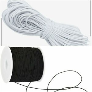 DRESS MAKING CRAFTS ROUND FLAT ELASTIC BUNGEE ROPE SHOCK STRING STRETCHABLE CORD