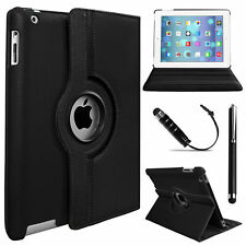 Leather 360 Degree Rotating Smart Stand Case Cover For Apple iPad Air-4