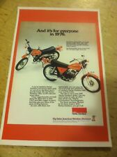 Vintage Harley Sx125 Motorcycle Advertisement Poster Home Decor Man Cave Gift