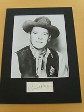 Ronald Reagan - genuine autograph / UACC  AFTAL