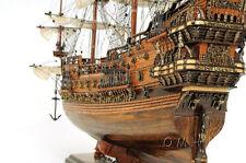 """Vasa 1628 Wasa Swedish Tall Ship Assembled 38"""" Built Wooden Model Boat New"""