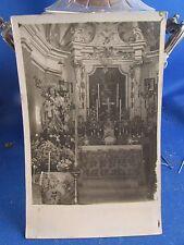 cpa photo italie italia perinaldo interieur eglise vierge madone autel chiesa