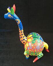 Beautiful Colorful Hand Made Piggy Bank Giraffe