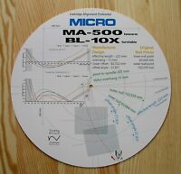 Micro Seiki BL-10X/MA-500 Custom Designed Tonearm Cartridge Alignment Protractor