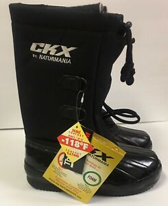 Snowmobile CKX Naturmania Boots Size 4 Youth Kids Black Junior Thinsulate Winter