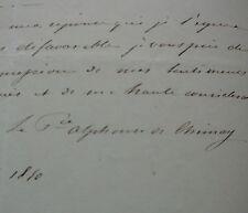 Alphonse de Riquet de Caraman-Chimay (1810. 1865) Droit de Passage Berline.1850