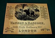 Watson & HANCOCK gunmaker riproduzione carta Gun Case Accessori etichetta