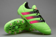 Mens Adidas ACE 16.1 FG/AG Leather Soccer Cleats Solar Green AF5099 Size 8
