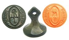 Excellent 15th century Medieval armorial seal of Sir Biertoul dou Mour