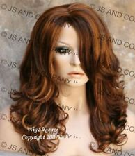 WAVY Layered Brand New Style Medium Red Auburn Blonde MIX Wig JSBD 27-30-33